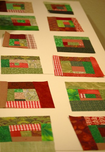 Christmas tree skirt squares