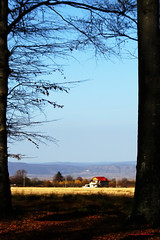 Red house in the field (Borneev) Tags: nikon nikond100 d100