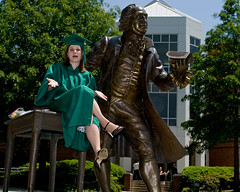 Heather with George Mason (Mountain Visions) Tags: pentax graduation may 2008 gmu k20d da35mmlimited 20082008fairfaxgmugeorgemasonheatherserpicovagraduation2008fairfaxgmugeorgemasonheatherserpicovagraduation pentaxsmcpda35mmf28