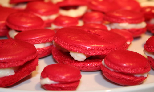 Rose & Raspberry Macarons