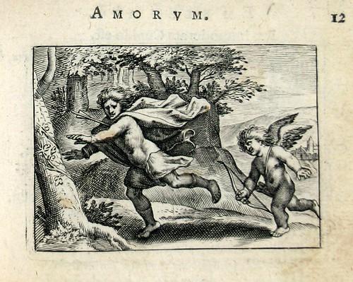 006 Ille fugas silvas saltusque peragrat- Un hombre huye demasiado tarde de Cupido ya está afectado por su flecha