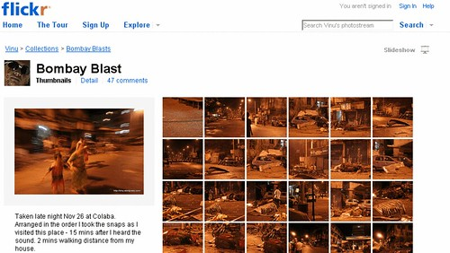 Images from the Mumbai Terror Attacks on Flickr