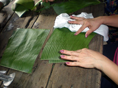 Banana leaves wiped clean (wbelmonte) Tags: tamales pampanga baliti