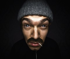 (vasiliy.v) Tags: portrait guy work diy eyes with russia moscow sony russian tamron gop ohhh  ringflash 1118 topaz adjust  a700 gopnik  hvlf58am pacan  bodryachkom