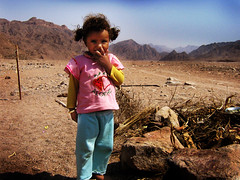 Bedouin little girl (Ibrahim A. Khalil) Tags: mountain cute girl children child desert little poor egypt innocence sinai bedouin