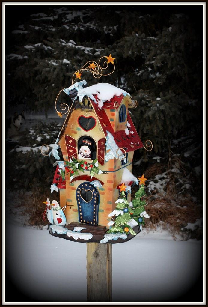 Tin snowman house...