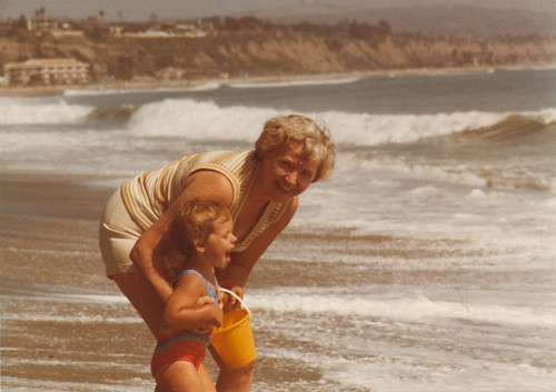 Grandma and me - Aug 1983 - Dohez Beach