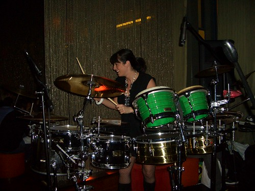 leyla on drums