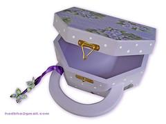 Bolsa MDF Lilás (Minhas Crias) Tags: handmade artesanato bolsa mdf decoupage trabalhosmanuais