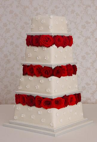 rosebedandblossomweddingcake