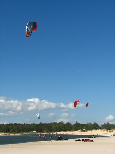 F is for Fun - ABC Wednesday. Kitesurfing