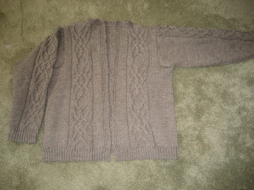 Cable Vision Cardigan front
