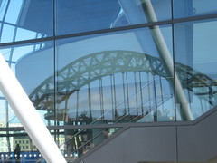 Tyne Bridge reflected in Sage Centre