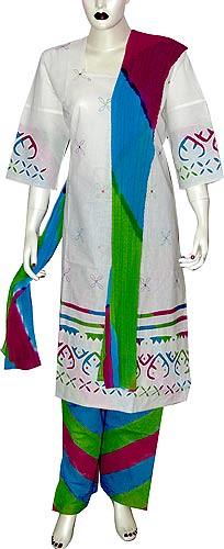 Womens Fashion Printed Cotton Salwar Kameez For Evenings