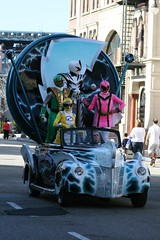 I love the power rangers car