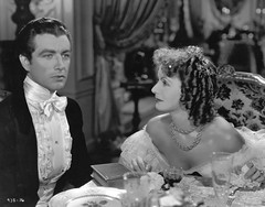 "Greta Garbo in ""Camille"" with Robert Taylor (Silver Screen Sirens) Tags: dumas dinner vintage necklace 1930s antique tie curls elegant camille silverscreen gretagarbo roberttaylor victorianstory"