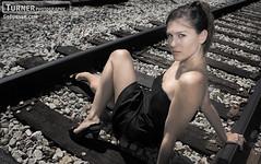 Michelle (Turner Photo) Tags: railroad atlanta black train high model dress michelle tracks heels