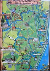 Plan de la forêt de la Robertsau