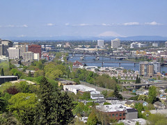 Mt St Helens and the Willamette River (fx3000) Tags: oregon portland tram pdx willametteriver mtsthelens