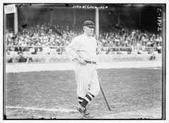 [John McGraw, New York NL, at Polo Grounds, NY (baseball)]  (LOC) (The Library of Congress) Tags: park new york blackandwhite bw newyork john blackwhite sticker uniform baseball stadium crowd gray bat diamond stamp mature national older libraryofcongress nl spectators manager leaning polo grounds league mcgraw stands ondeck batter pinstripes cleats baseballplayer nyn pologrounds nationalleague johnmcgraw stripedsocks majorleaguebaseball newyorkgiants 24913 americanpastime xmlns:dc=httppurlorgdcelements11 dc:identifier=httphdllocgovlocpnpggbain11245 newyorkbaseballgiants johnmccraw baseballplayerwithlegscrossed