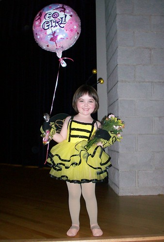 Julia after her dance recital.