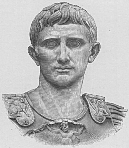 Drawing of Ceaser Augustus