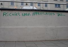Richie's Nana (martintype) Tags: graffiti tail nana richies sunderland appreciates