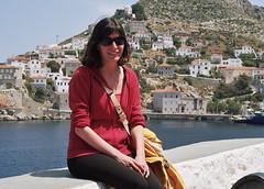 Dimitra in Hydra (Ed Chadwick) Tags: leica friends people film kodak greece portra m2 hydra dimitra 160nc
