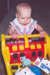 Natalie Pushing Cart