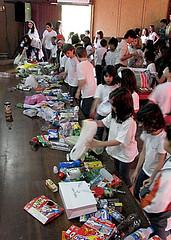 Embalagens trazidas pelos alunos