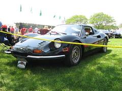 Ferrari Dino (sledhockeystar7) Tags: black dino connecticut greenwich ferrari front left 2008 concours delegance