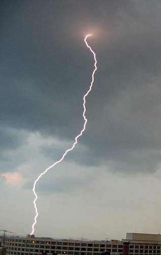 Lightning hit, Washington, DC, June 10, 2008
