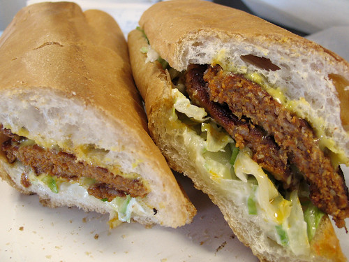 Creole Hot Sausage  Po-Boy with Cheese, from Gene's Po-Boys, New Orleans