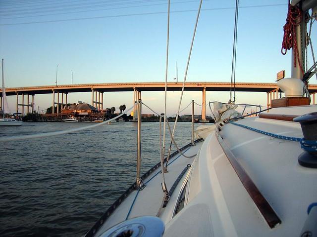 Approaching the Kemah Bridge