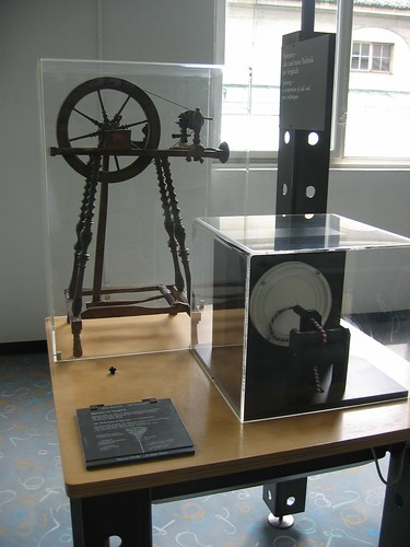 Spinning wheel in the Deutsches Museum