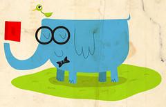elephants can read (detail) (medialunadegrasa) Tags: illustration juan carlos can read childrens elephants vector peronismo