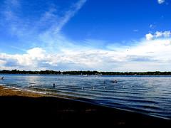 June 22, 2008 (galactichero) Tags: blue summer sky color beach water clouds swimming michigan l 2008 ake haslett lakelansing wkarfun