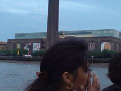 View of the Tate Modern on trip on Thames Clipper from Greenwich to Embankment (goreckidawn) Tags: city uk england colour london strange landscape glory diversity odd metropolis contradiction thevideoisofcatalancompanyfactoriamascaro whoperformedthegardenofwondersaspartofgreenwichbitesattheoldroyalnavalcollege