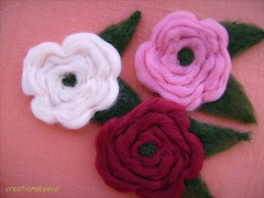 felt roses brooches (creationsbyeve) Tags: flower felted felting