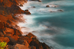 Ocean Colors (Paulo Brando) Tags: ocean blue espaa orange costa naturaleza color beach nature water colors cores landscape spain nikon espanha rocks europe natureza natura paisagem galicia galiza paulo nikkor 2008 pontevedra 1870mm paisaxe nikkor1870 nd8 d80 nothdr brandao nikond80 impressedbeauty omorrazo colourartaward cabodohome ofacho paulobrandao pbrandao freeusephotos thebestwaterscapes colorfullaward rbfeatured