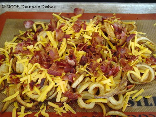 Curly Cheese Fries: Ready for the Oven