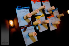 Place cards with cork magnet