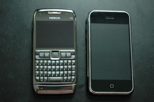 Nokia E71 and iPhone