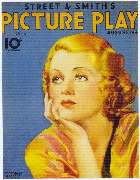 Street & Smith's Picture Play, August 1930s, Constance Bennett