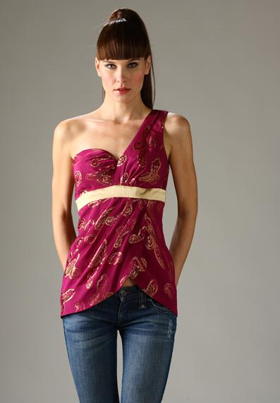 2009 Tek Omuzlu Elbise Modelleri...