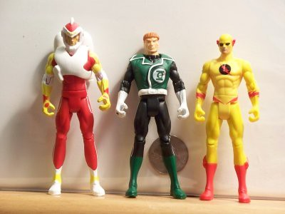 Adam Strange, Green Lantern Guy Gardner, and Professor Zoom, aka Reverse Flash