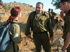 (    ( (galit lub) Tags: people woman man green smile soldier army israel media north middleeast bodylanguage   idf  galit