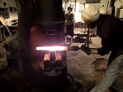 """The making of a lightsabre"" - Darla (In dust we trust) Tags: hammer iron steel machine blacksmith forge"
