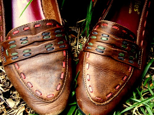 stitched loafers