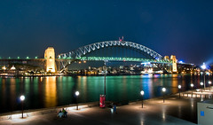Sydney Habour Bridge Australia by night (Linh_rOm) Tags: landscape lowlight nikon nightshot sydney australia nsw 2008 reflexions recent habourbridge d300 cs3 18200mm sydneyhabourbridge 18200vr spectnight australialandscape australia2008 sydney20080808habourbridge